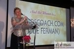 Julie Ferman (Cupid's Coach) Winner of Best Matchmaker at the 2010 iDateAwards in Miami