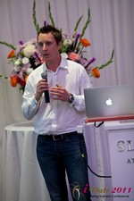 Chas McFeely (CEO of HuookChasUp.com) at the 2011 Online Dating Industry Conference in L.A.