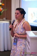 Monica Ohara (Director of Marketing at SpeedDate) at iDate2011 Beverly Hills