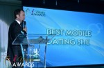 Mark Brooks - Announcing Best Mobile Dating Site Winner for 2012 at the 2012 iDateAwards Ceremony in Miami held in Miami Beach