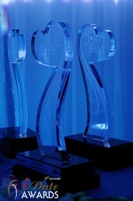 iDate Award Trophies at the 2012 Internet Dating Industry Awards Ceremony in Miami