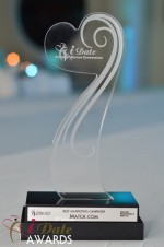 The iDate Award Trophy at the 2012 iDate Awards Ceremony