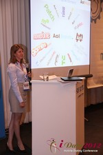 Amanda Mills (Director of Product at AOL Mobile) at the 2012 Internet and Mobile Dating Industry Conference in L.A.