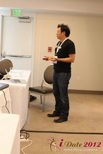 Andy Kim (CEO of Mingle)  at the 2012 Beverly Hills Mobile Dating Summit and Convention
