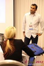Dwipal Desai (CEO of TheIceBreak.com) covers monetization during a relationship at iDate2012 Beverly Hills