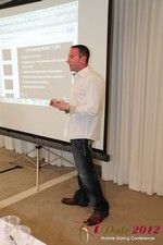 Ryan Gray (Co-Founder of IMGrind) at the Mobile Marketing Pre-Conference at iDate2012 L.A.