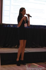 Rosalie Sutherland Of AnastasiaDate Speaking On Mobile Dating Conversions  at the 38th iDate Mobile Dating Industry Trade Show