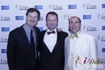 eHarmony's Grant Langston with Mark Brooks and Marc Lesnick at the 2015 Las Vegas iDate Awards Ceremony