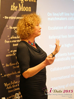 Mary Balfour CEO And Managing Director Of Drawing Down The Moon  at the 2015 London E.U. Mobile and Internet Dating Expo and Convention