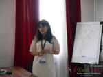 Elena Vygnanyuk at the 49th Premium International Dating Industry Conference in Minsk